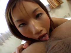 Maria Fujisawa tongues ass hole and licks cock