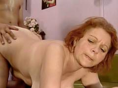 Redhead Mature Takes It Doggy Style