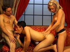 Living Room Bisexual Threesome