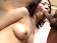 Horny hairy snatch Japanese screwed hard!